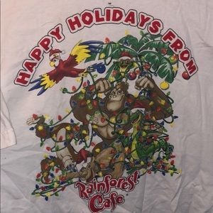 Other - VINTAGE RAINFOREST CAFE CHRISTMAS TEE RETRO